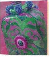 Decorative Pink Bottle Wood Print