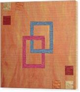 Decorative Squares Wood Print