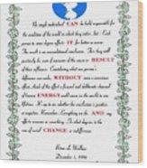 Decree Wood Print