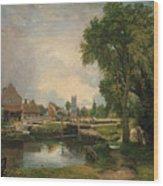 Dedham Lock And Mill Wood Print