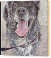 Dedicated Dog Wood Print