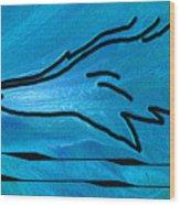 Deep Blue Wood Print by Ben and Raisa Gertsberg