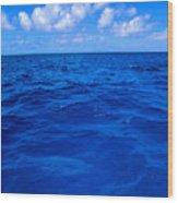 Deep Blue Ocean Wood Print
