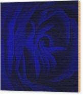 Deep Blue Passion Wood Print