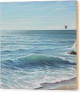 Deep Blue Sea Wood Print