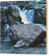 Deep Creek Flowing Between The Rocks Wood Print