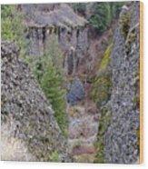 Deep Creek Gorge Wood Print