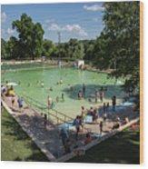 Deep Eddy Pool Is A Family Friendly, Family Fun, Public Swimming Pool In Austin, Texas Wood Print