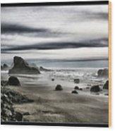 Deep Evening At The Beach Wood Print