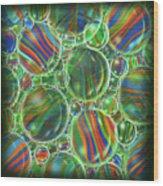 Deep Green Marbles Shower Curtain Wood Print