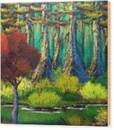 Deep in the Bayou Wood Print