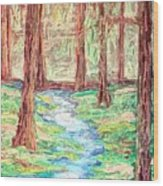 Deep In The Forest Wood Print