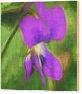 Deep Purple - Wildflower Art Wood Print