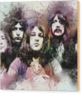 Deep Purple.rock Stars Wood Print