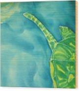 Deep Sea Flight  Wood Print