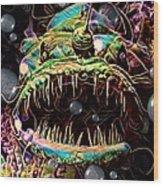 Deep Sea Monster Fish Wood Print