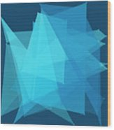Deep Sea Polygon Pattern Wood Print