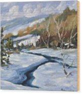 Deep Snow Wood Print