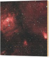 Deep Space Bubble Nebula Ngc 7635 In Constellation Cassiopeia Wood Print