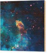 Deep Space Smoke Wood Print