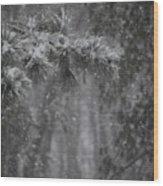 Deep Woods Snow Wood Print