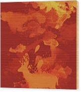 Deer Art Evening Wood Print