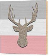 Deer Head Silhouette Wood Print