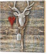 Deer Heart - Hirschherz Wood Print