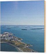 Deer Island In Boston Harbor 14bosl027 Wood Print