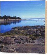 Deer Isle Sunday Wood Print