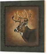 Deer Lodge Wood Print