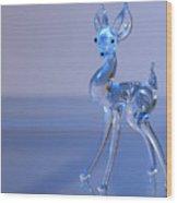 Deer Made Of Glass Wood Print