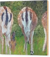 Deer Moon Wood Print