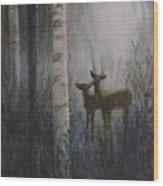 Deer Pair Wood Print