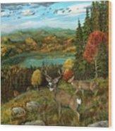 Deer Season Wood Print