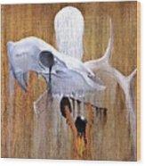 Deer Song Wood Print