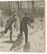 Deer-stalking In The Adirondacks In Winter Wood Print