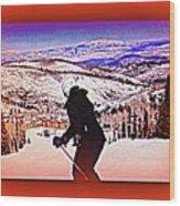 Deer Valley Utah Powder Wood Print