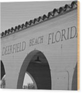 Deerfield Beach Florida Wood Print