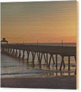 Deerfield Pier Sr Wood Print