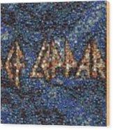 Def Leppard Albums Mosaic Wood Print by Paul Van Scott
