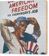 Defend American Freedom Wood Print
