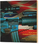 Defender Of Freedom - 2nd Ammendment Wood Print