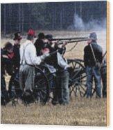 Defending The Artillery Wood Print
