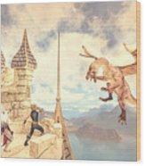 Defending The Castle Wood Print