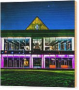 Defiance College Library Night View Wood Print