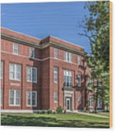 Defiance College Tenzer Hall Wood Print