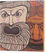 Defiant Graffitti Wood Print