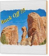 Defiant Rock 2 Wood Print