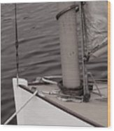 Defining A Catboat Wood Print